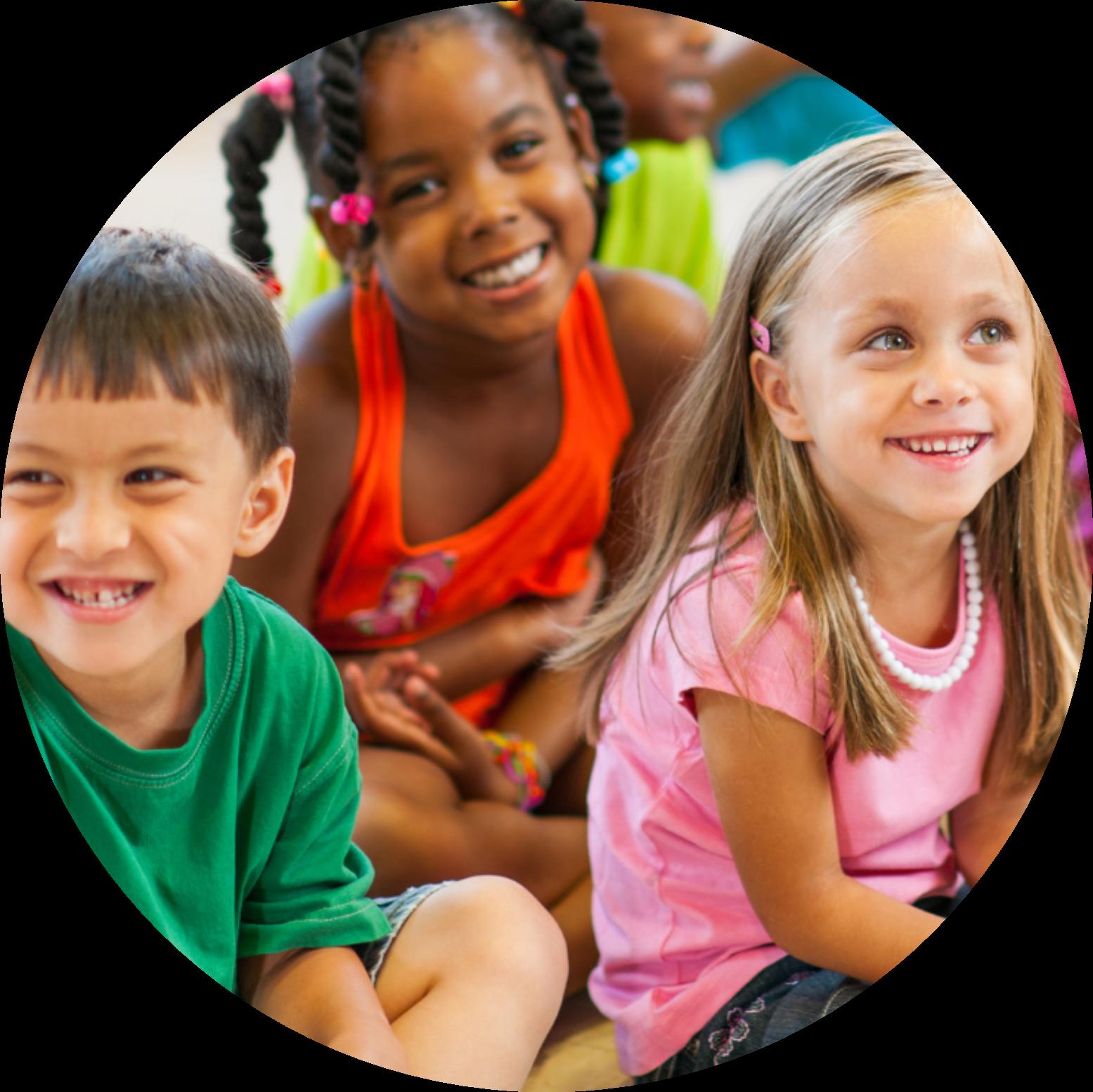 Smiling children at school