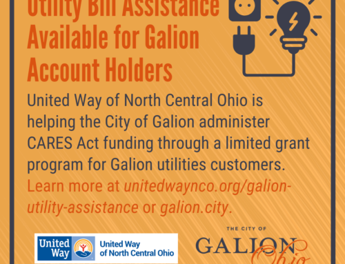 United Way of North Central Ohio Teams Up with the City of Galion to Provide Utility Bill Relief