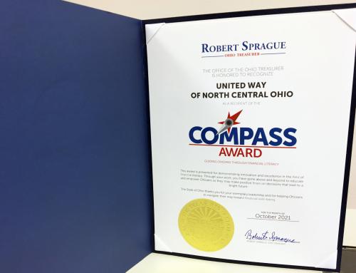 UWNCO Receives Compass Award From Ohio Treasurer